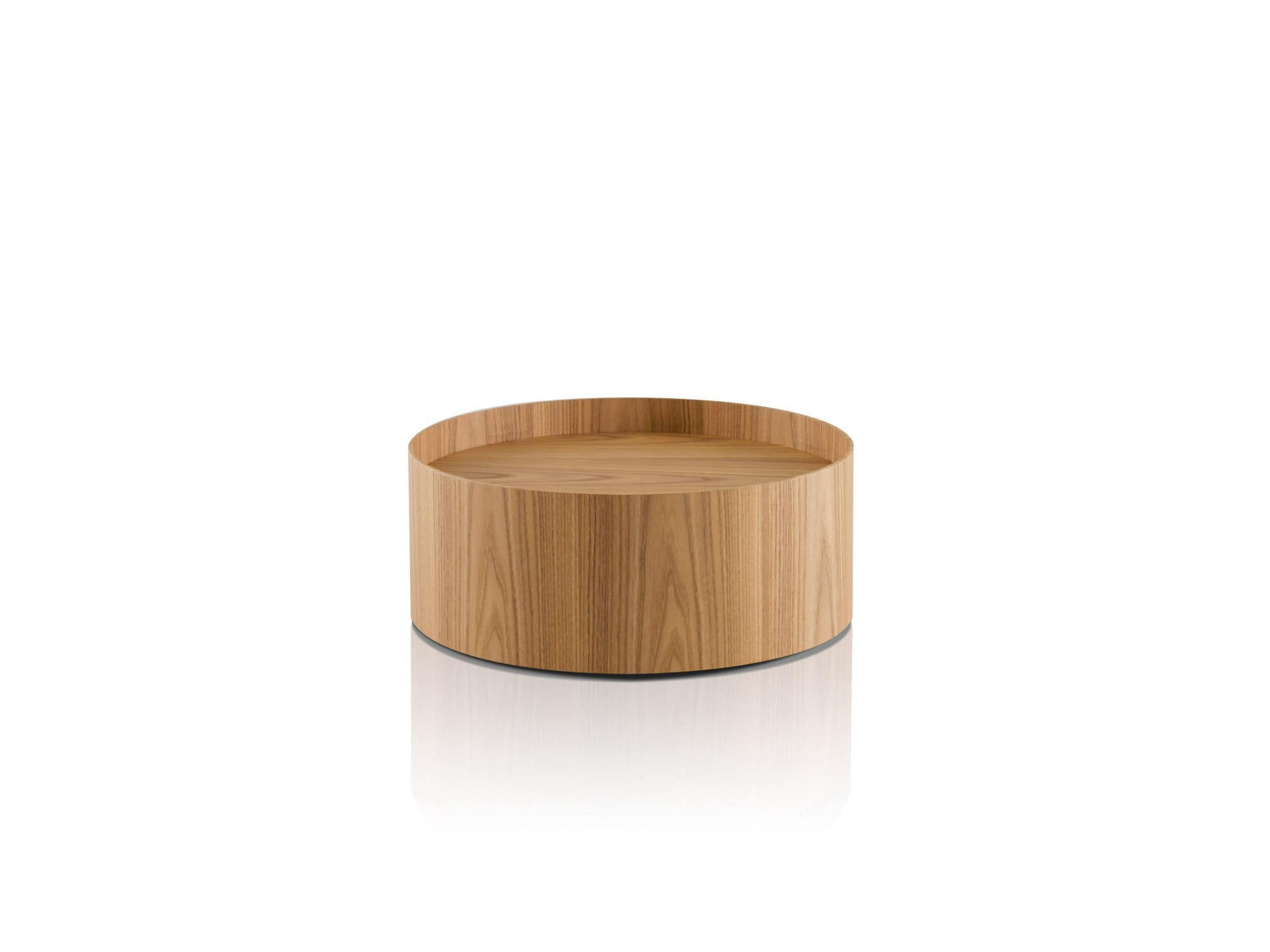 Contemporary Bedside Table / Elm / Round / By Piero Lissoni BUTLER By Piero  Lissoni Porro