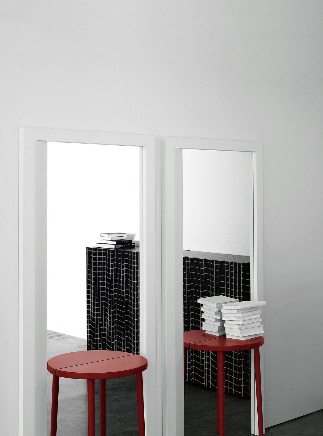 mirror rectangular with shelf mirror table by front porro