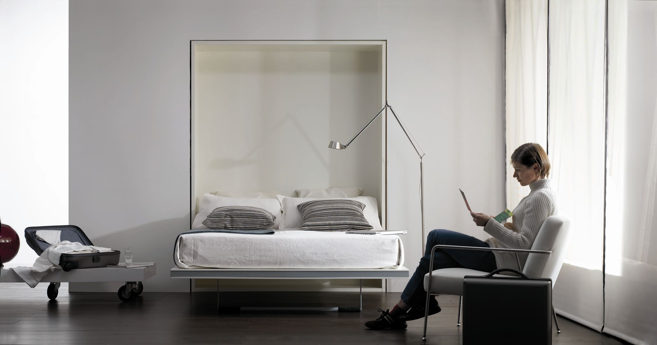 Wall bed double contemporary metal LA LITERAL Sellex