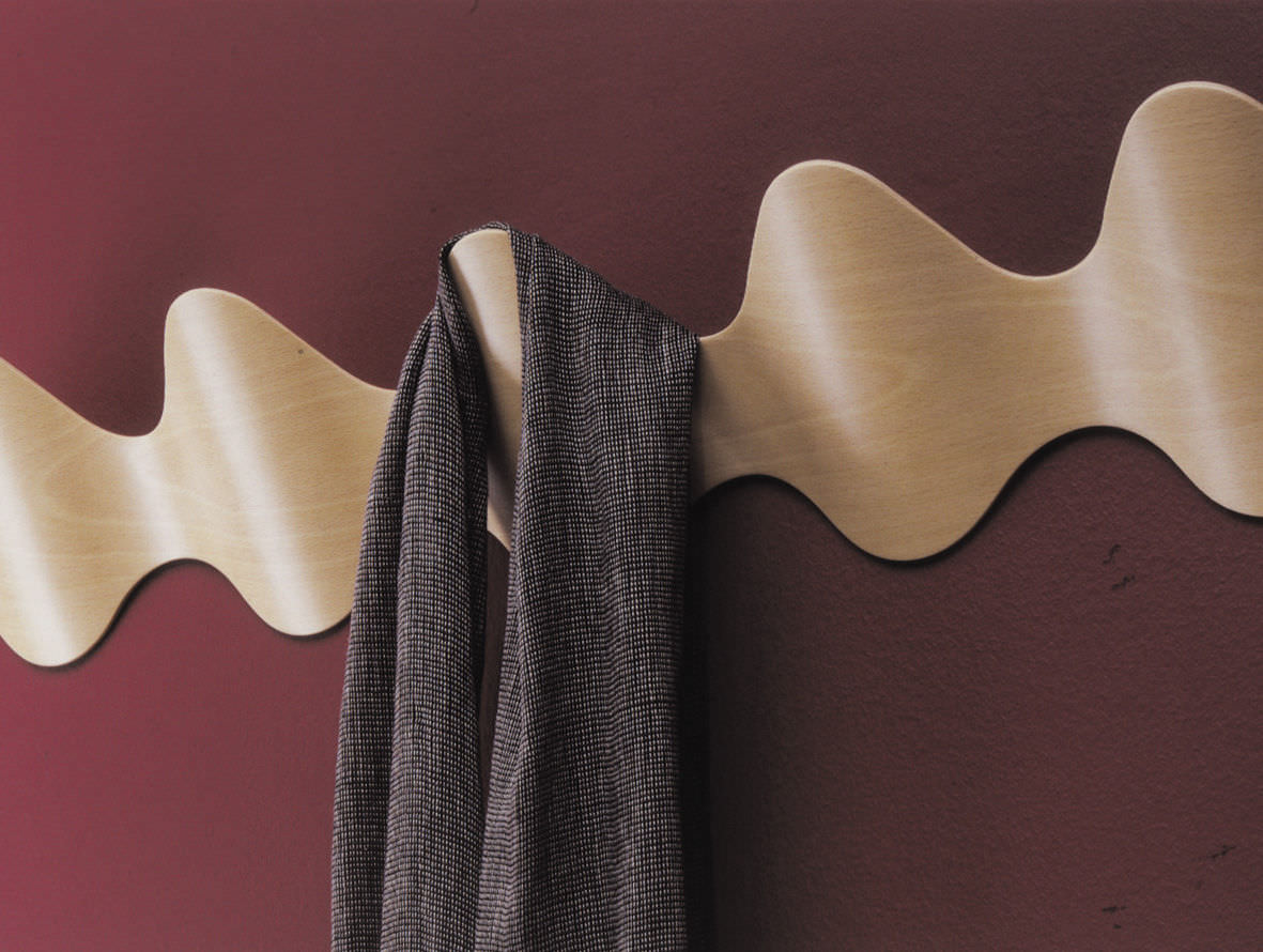 Wall Mounted Coat Rack Contemporary Wooden Commercial ONA By Montse Padrs