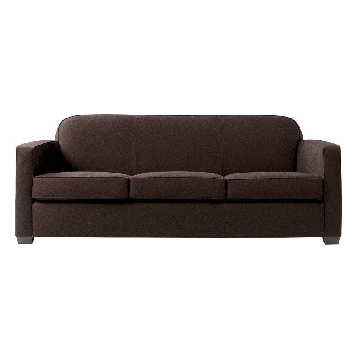 Contemporary Sofa Fabric 3 Seater Brown Jaguar