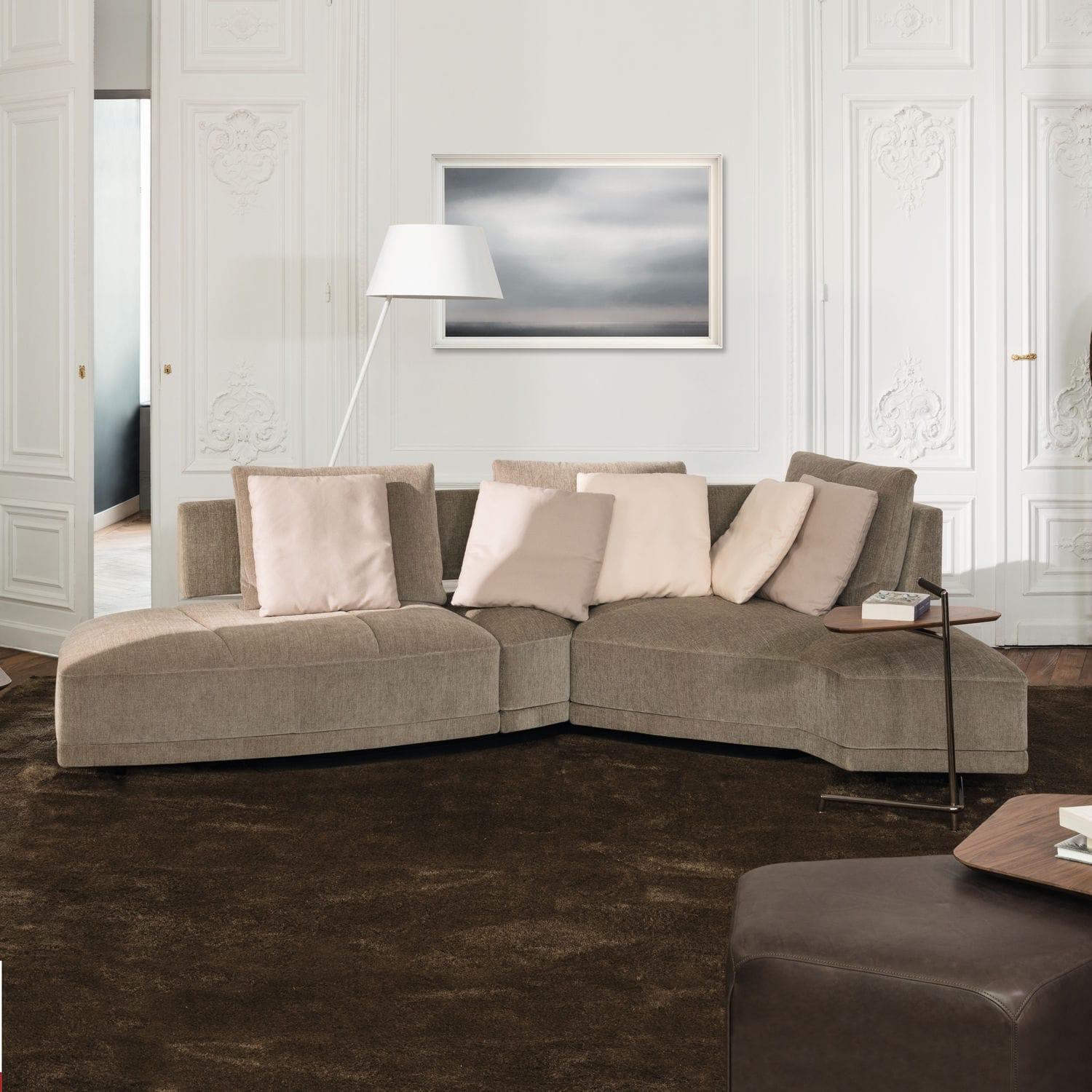Modular sofa / contemporary / leather / fabric - WING DIVAN BASE ...