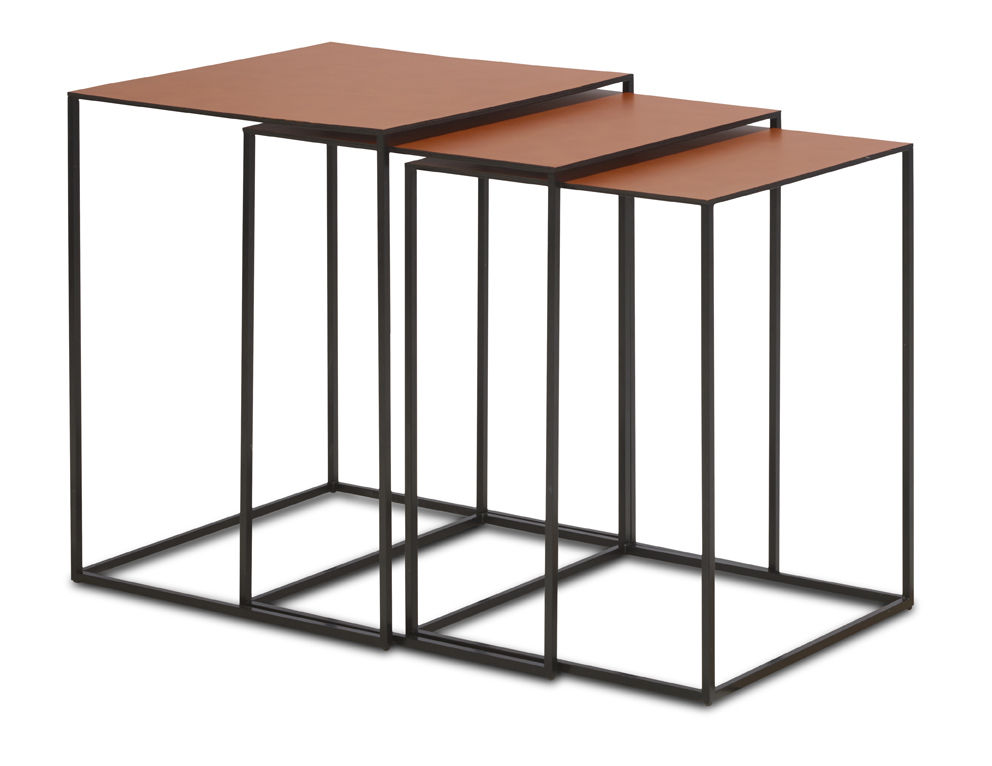 ... Contemporary Side Table / Lacquered Steel / Bronze / Chrome Steel ...