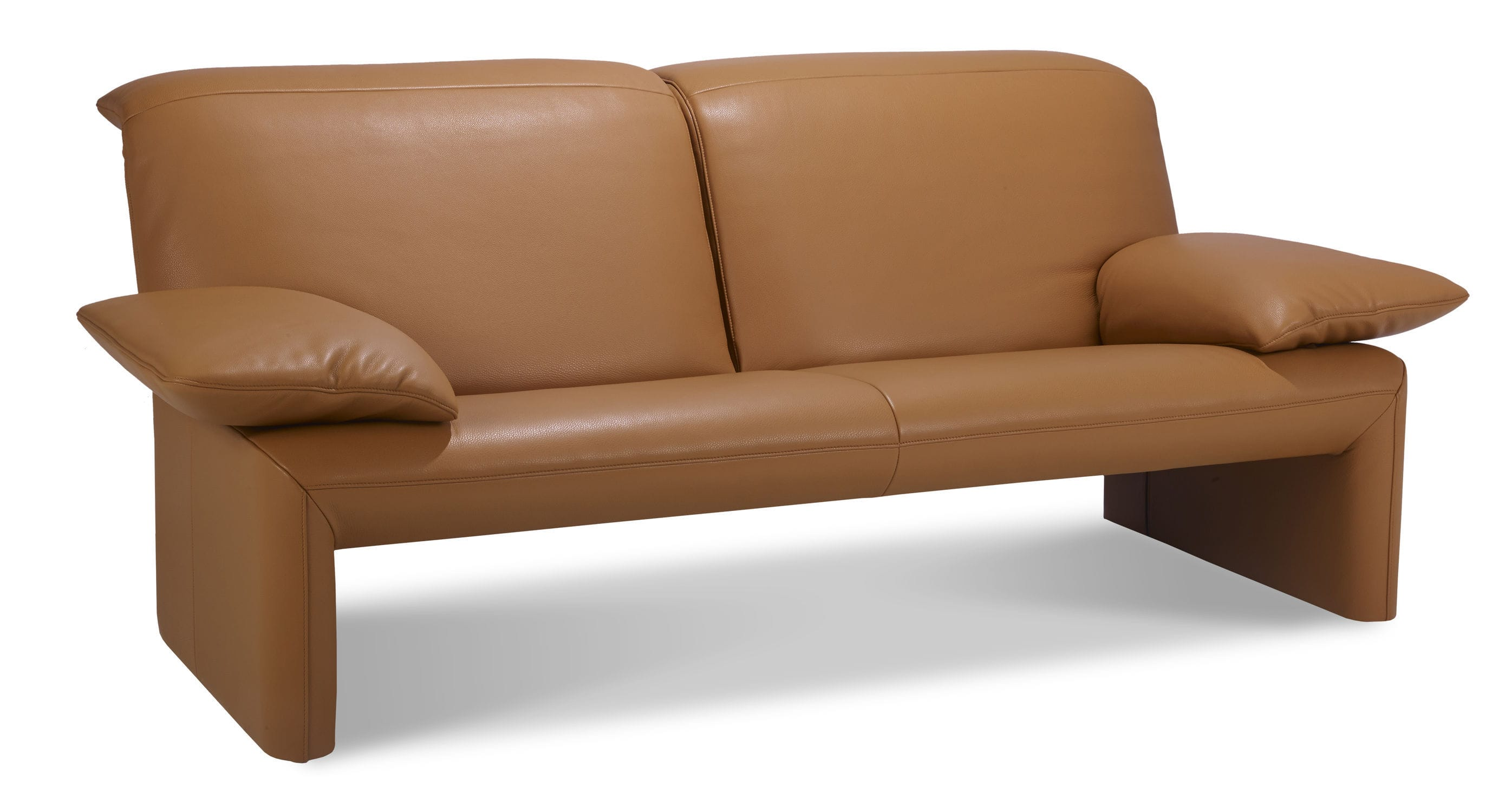 Contemporary sofa / leather / fabric / 2-seater - LINEA by Jean ...