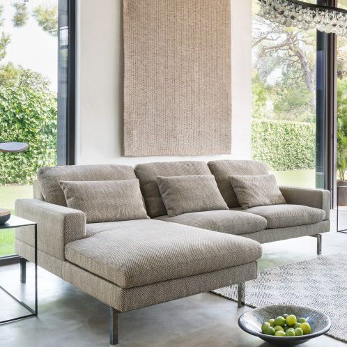 Corner Sofa Contemporary Fabric Leather Tigra Open Base By Verhaert New Products Services