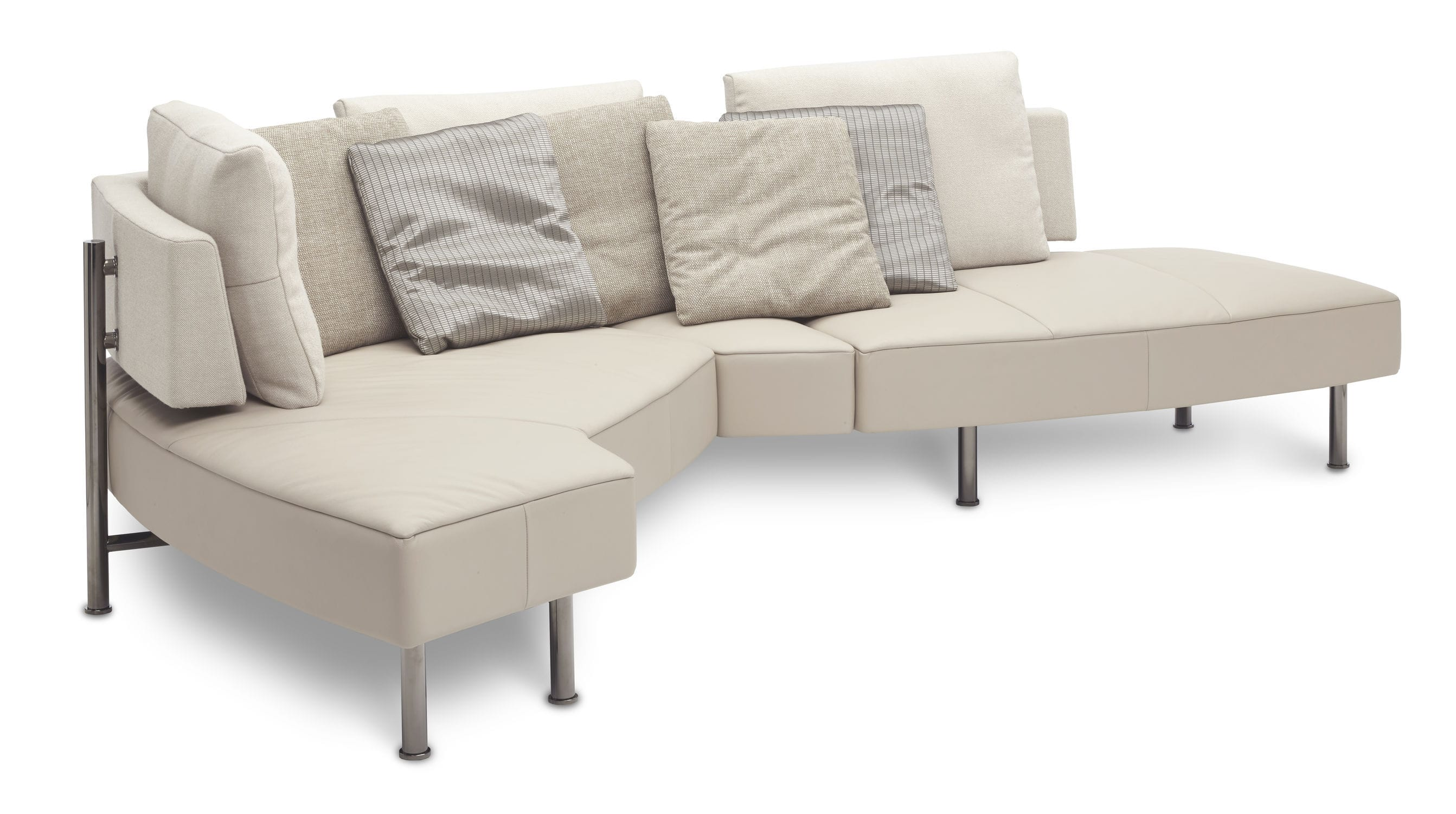 modular sofa  contemporary  leather  fabric  wing open base by  -  modular sofa  contemporary  leather  fabric wing open base by hugode ruiter jori