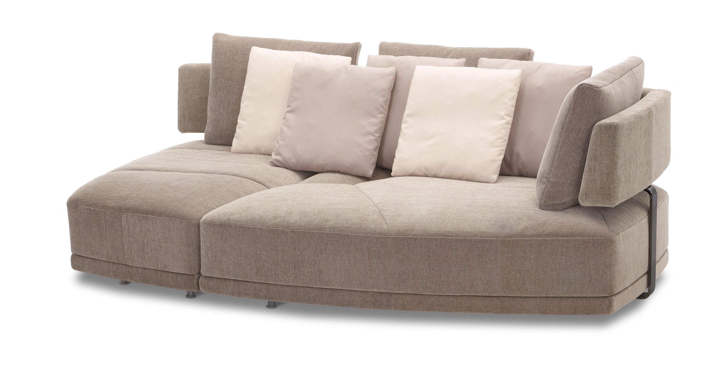 Modular sofa contemporary leather fabric WING DIVAN BASE