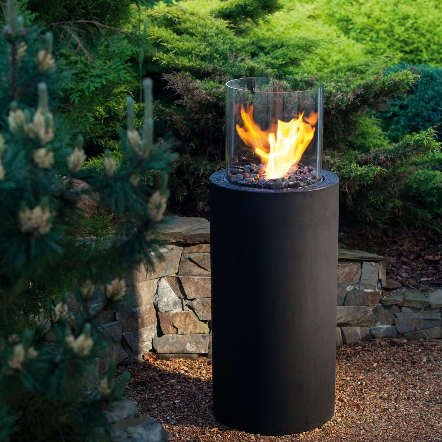 garden fireplace bioethanol contemporary open hearth totem