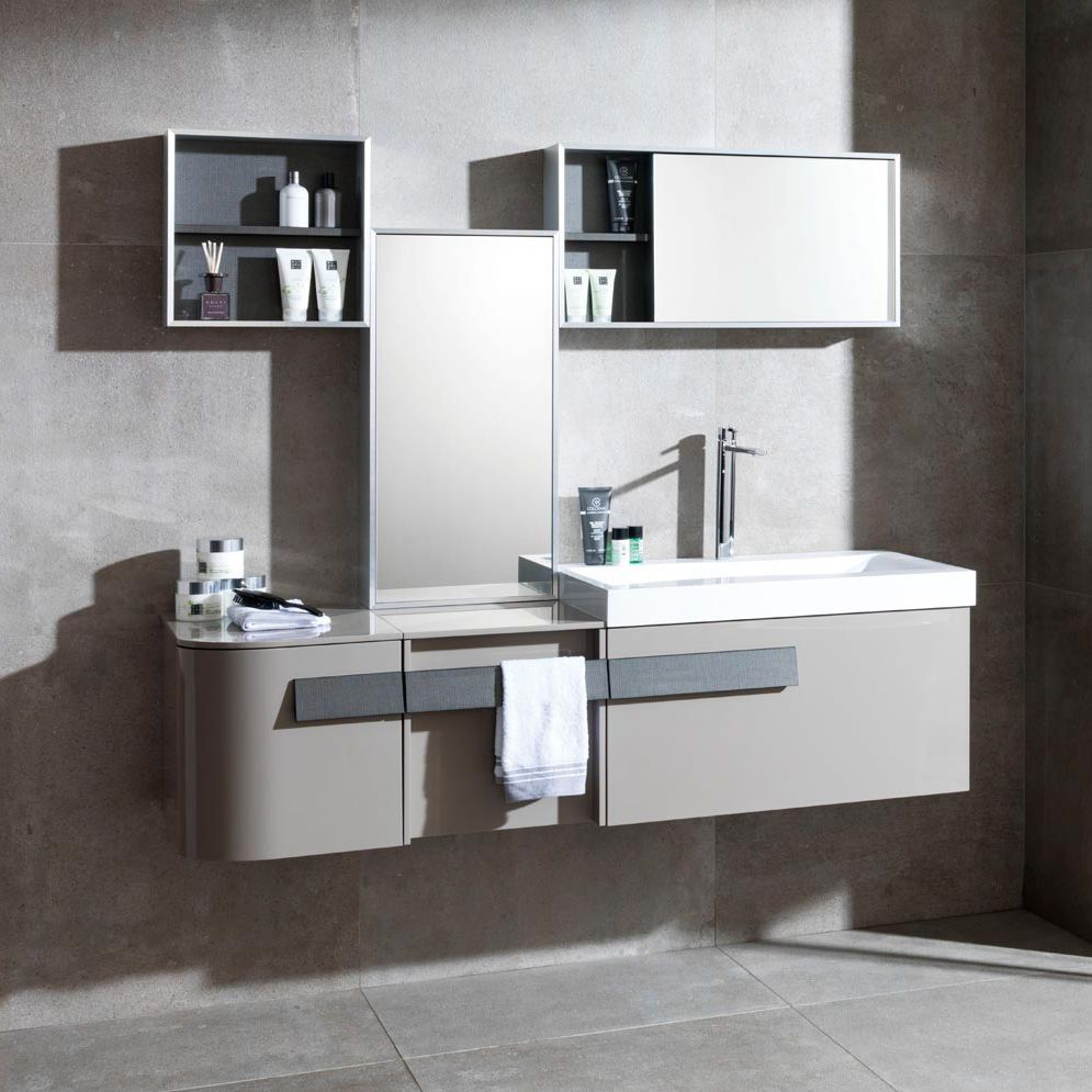 Wallhung Washbasin Cabinet  Laminate  Contemporary  With - Porcelanosa bathroom accessories
