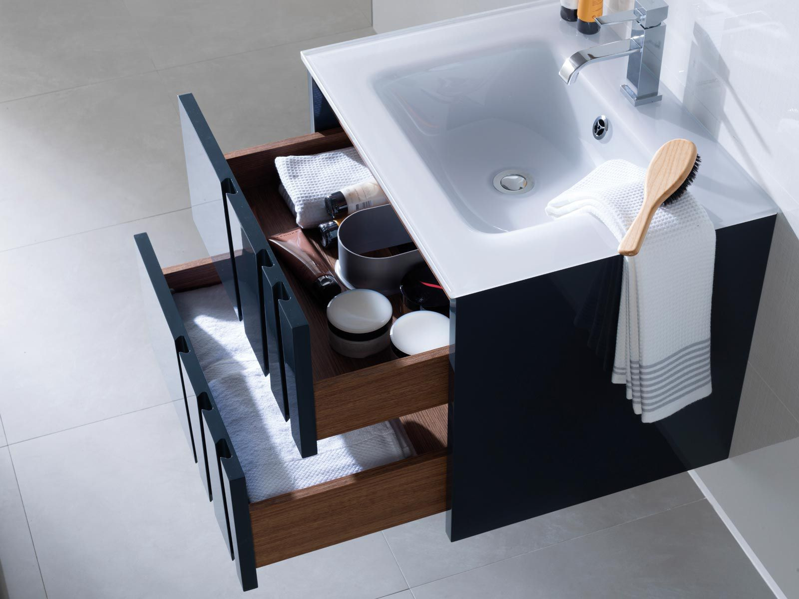 Wallhung Washbasin Cabinet  Wooden  Contemporary  Lacquered - Porcelanosa bathroom accessories