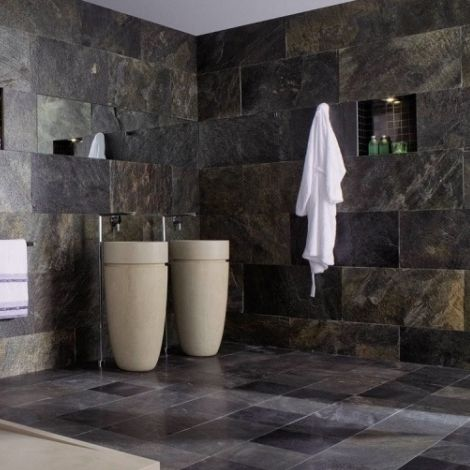 Indoor Tile Bathroom Wall Slate Delhi Pulido