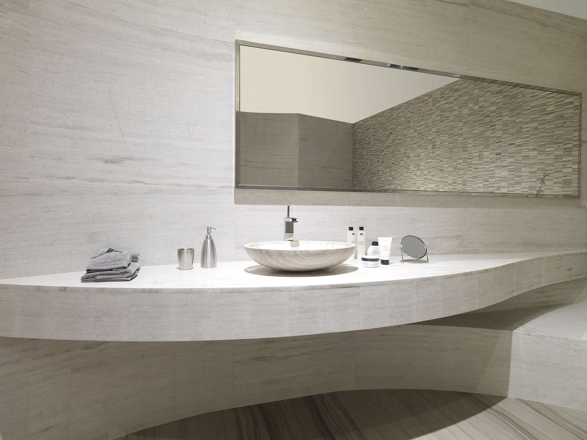 Indoor tile / wall / travertine / plain - SILVER WOOD CLASSICO - L ...