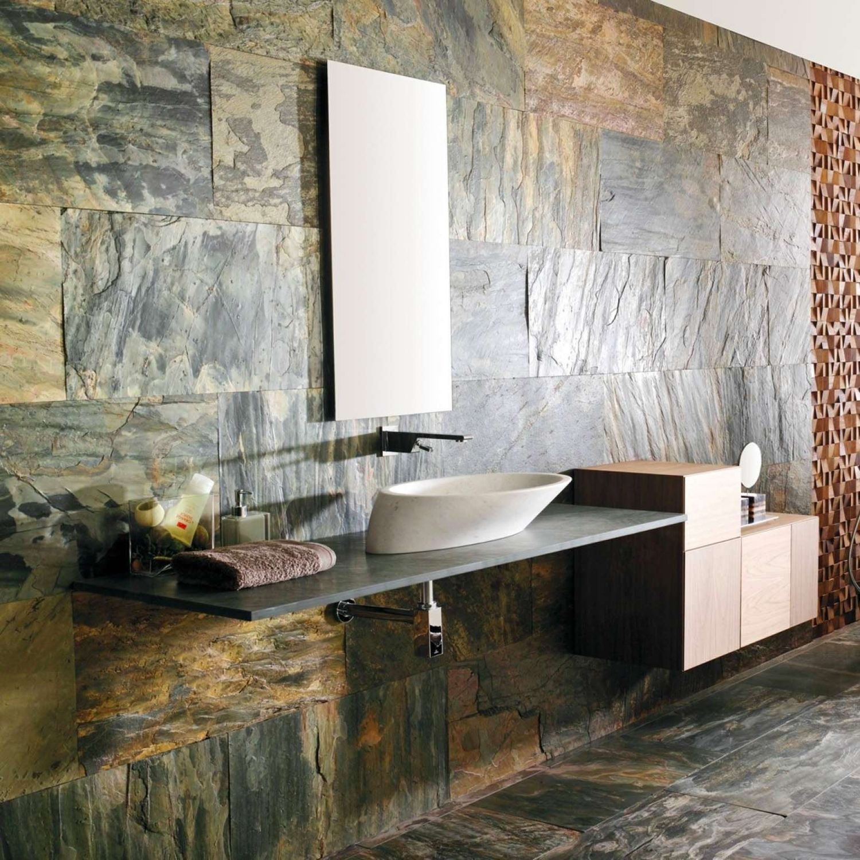Indoor tile bathroom wall slate KATHMANDU NATURAL HOME L