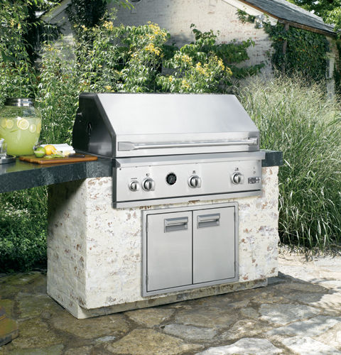 Gas Barbecue Built In Stainless Steel Commercial