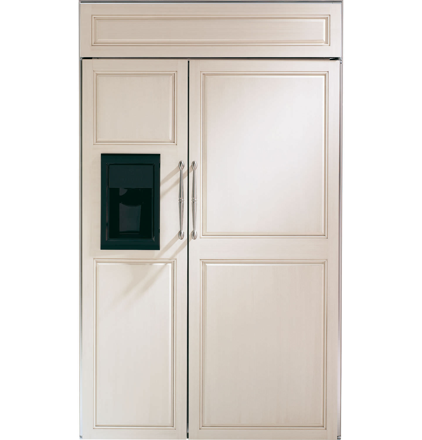 American refrigerator / white / energy-efficient / built-in ...