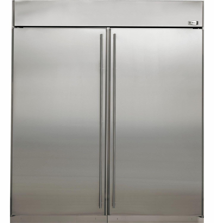 upright freezer stainless steel zifs360nxlh monogram - Upright Freezers