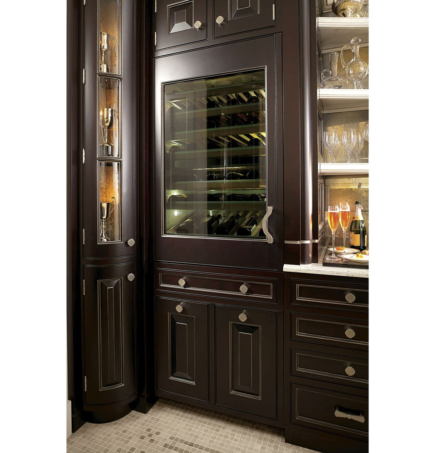 Integrated Wine Cabinet Commercial Wine Cabinet Built In Stainless Steel Glazed