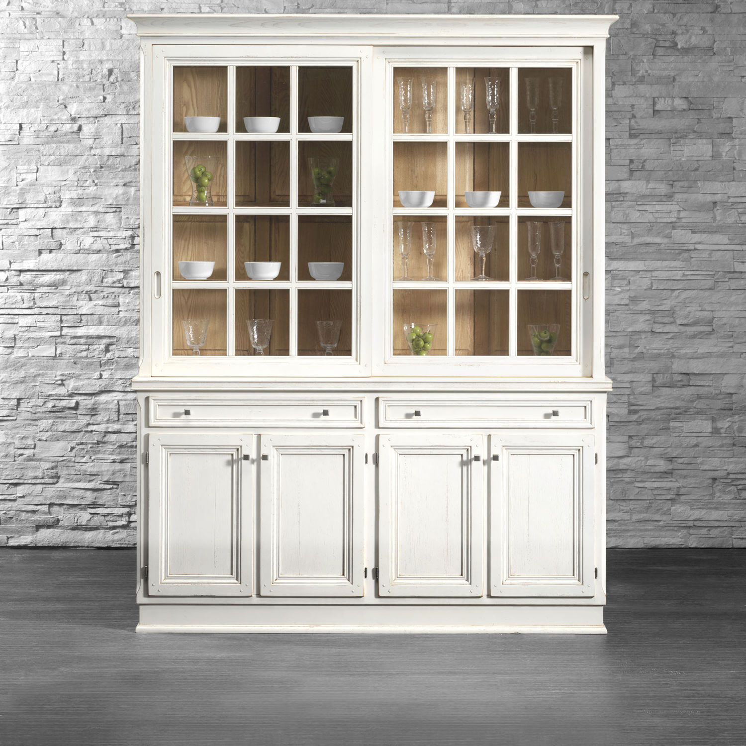 Traditional China Cabinet / Lacquered Wood / Solid Wood   MONTEREY