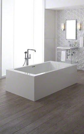 Bathtub mixer tap / floor-mounted / brass / bathroom - ONE: P24408 ...