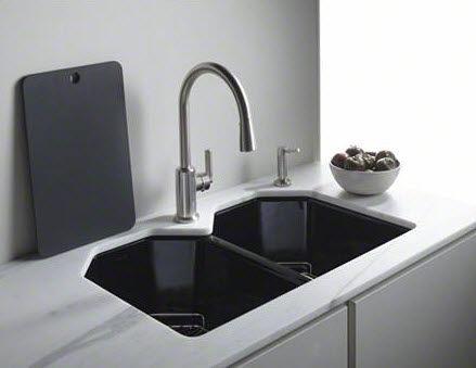 Double kitchen sink / cast iron / deep - KALLISTA - L20305-00 ...