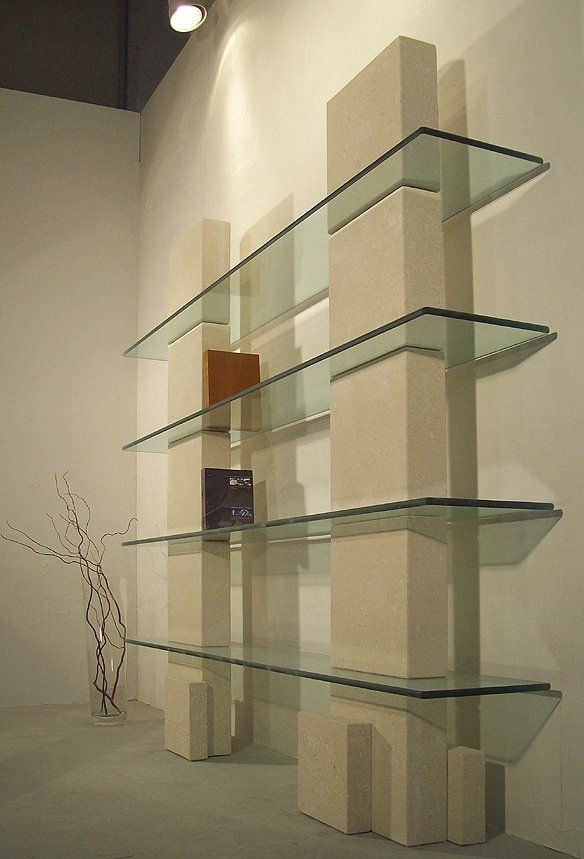 wall mounted shelf contemporary glass stone cube by roberto rh archiexpo com contemporary glass shelving contemporary glass shelving