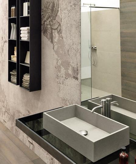 Bathroom column cabinet / contemporary - SURF - MODULNOVA