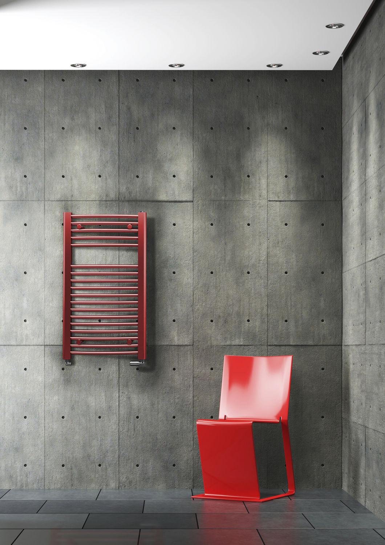 Hot water towel radiator / electric / steel / chrome SCALA RADOX ...