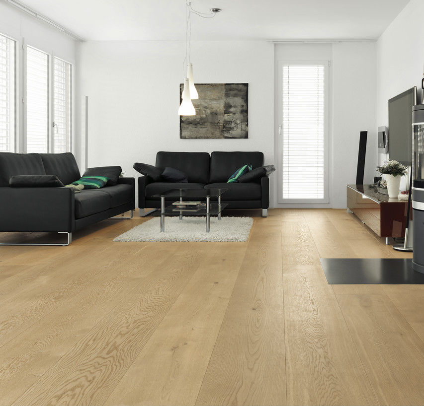 Engineered Parquet Floor Glued Floating Oak Character Wide Plank Brushed White Oil