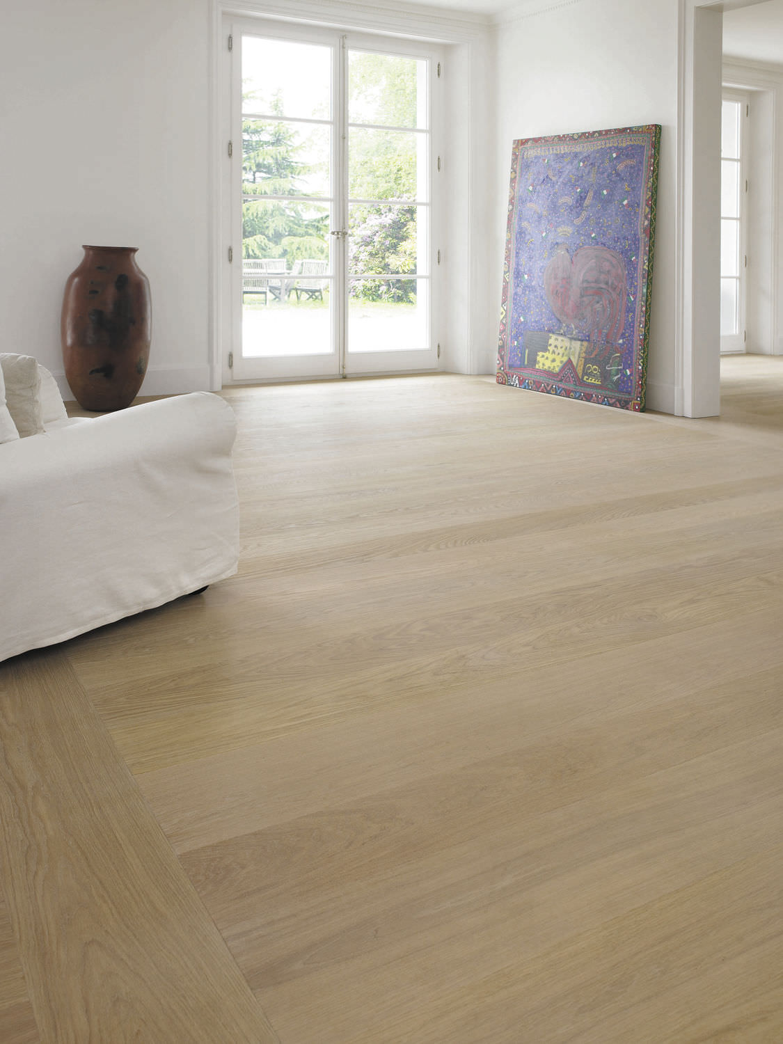 Engineered Wood Flooring / Glued / Floating / Oak OAK CLEAR WIDE PLANK  BRUSHED ...