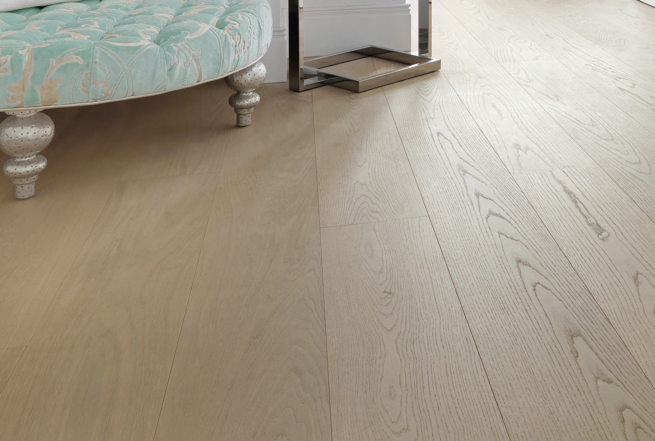 Engineered parquet floor glued floating oak OAK CLEAR WIDE