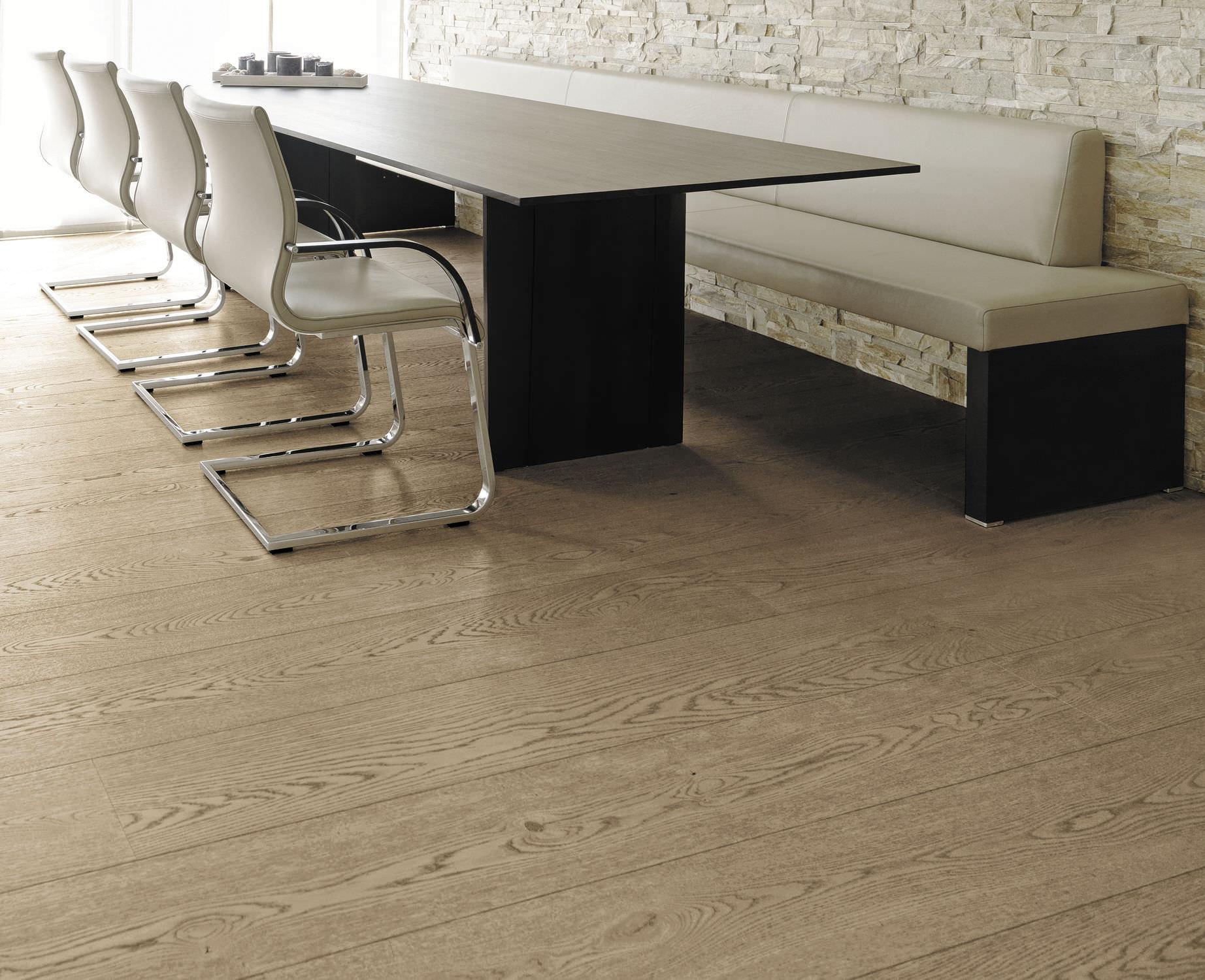 ... Engineered Wood Flooring / Glued / Floating / Oak OAK CLEAR WIDE PLANK  BRUSHED ...
