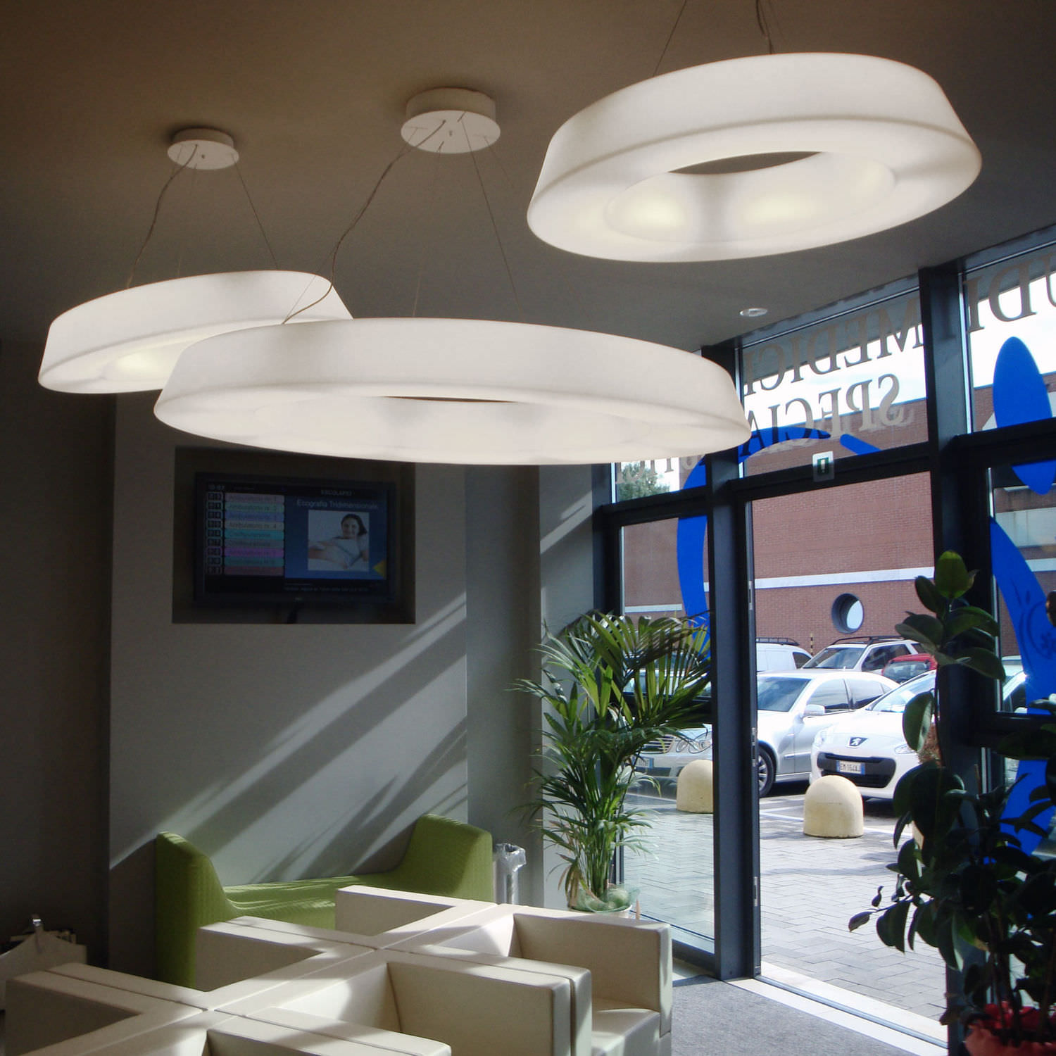 ... Hanging Light Fixture / LED / Round / Polyethylene CIRCULAR POL  Cod.2057/ By ...