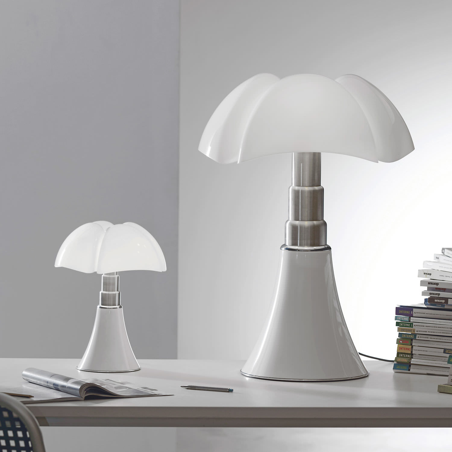 Fabuleux Table lamp / original design / stainless steel / methacrylate  IH32