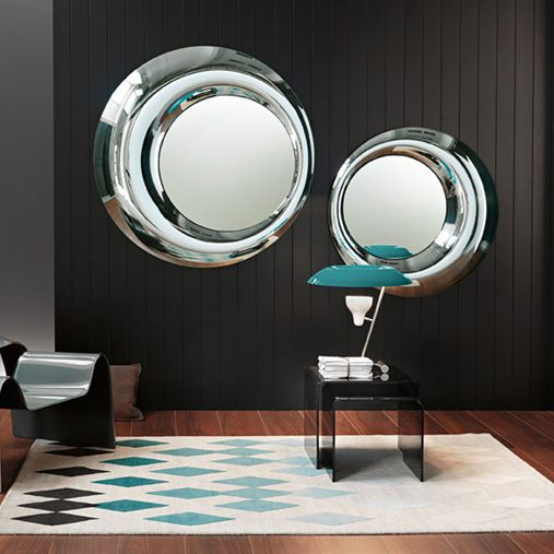 Wall Mounted Mirror Contemporary Round Living Room ROSY By Massimiliano Doriana