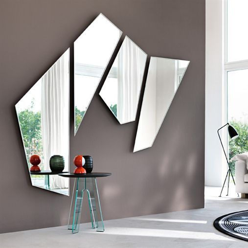 Wall Mounted Mirror Contemporary Living Room