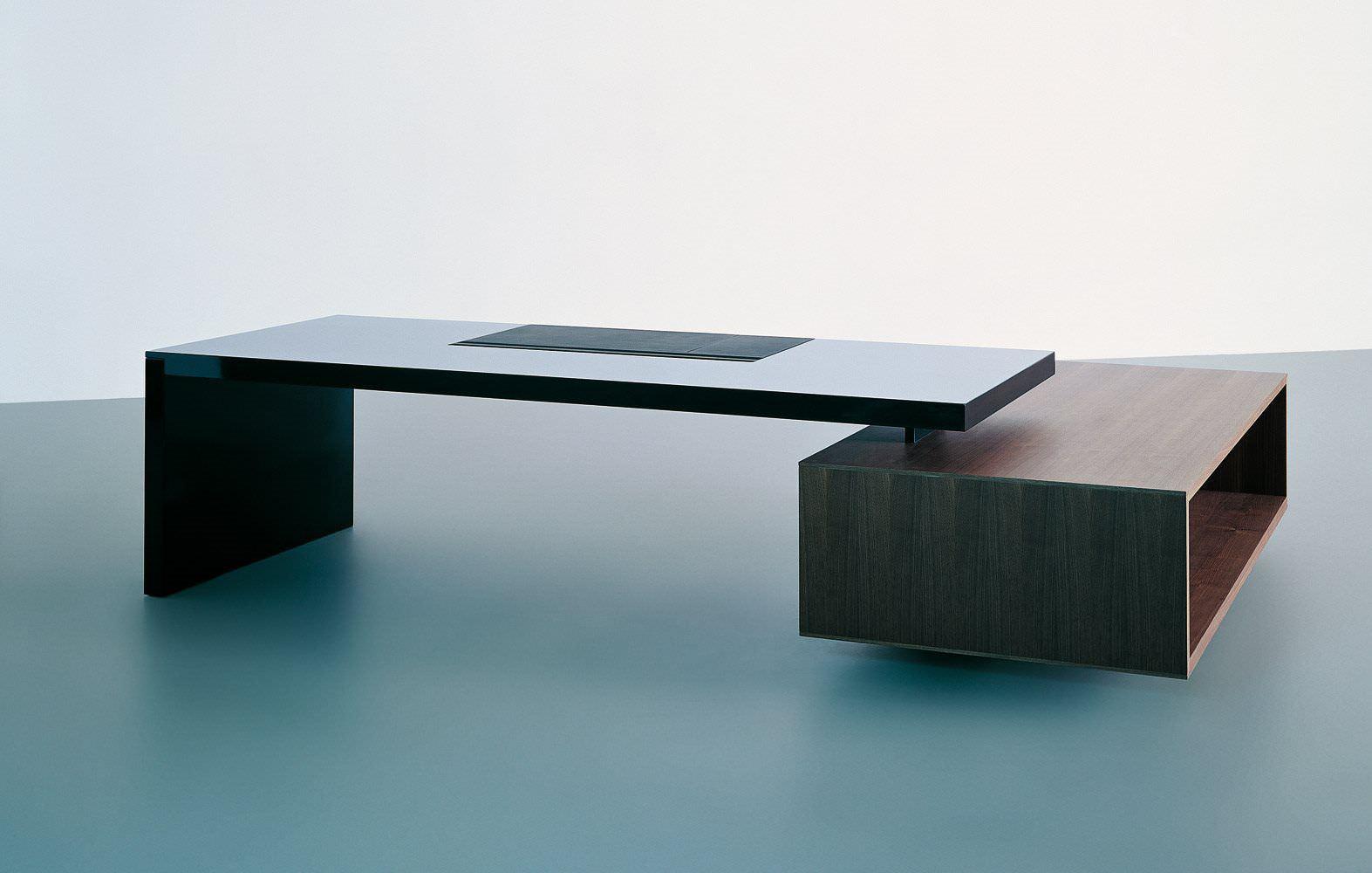Schreibtisch modern  Executive desk / wooden / glass / contemporary - ASYMMETRICAL - TECNO