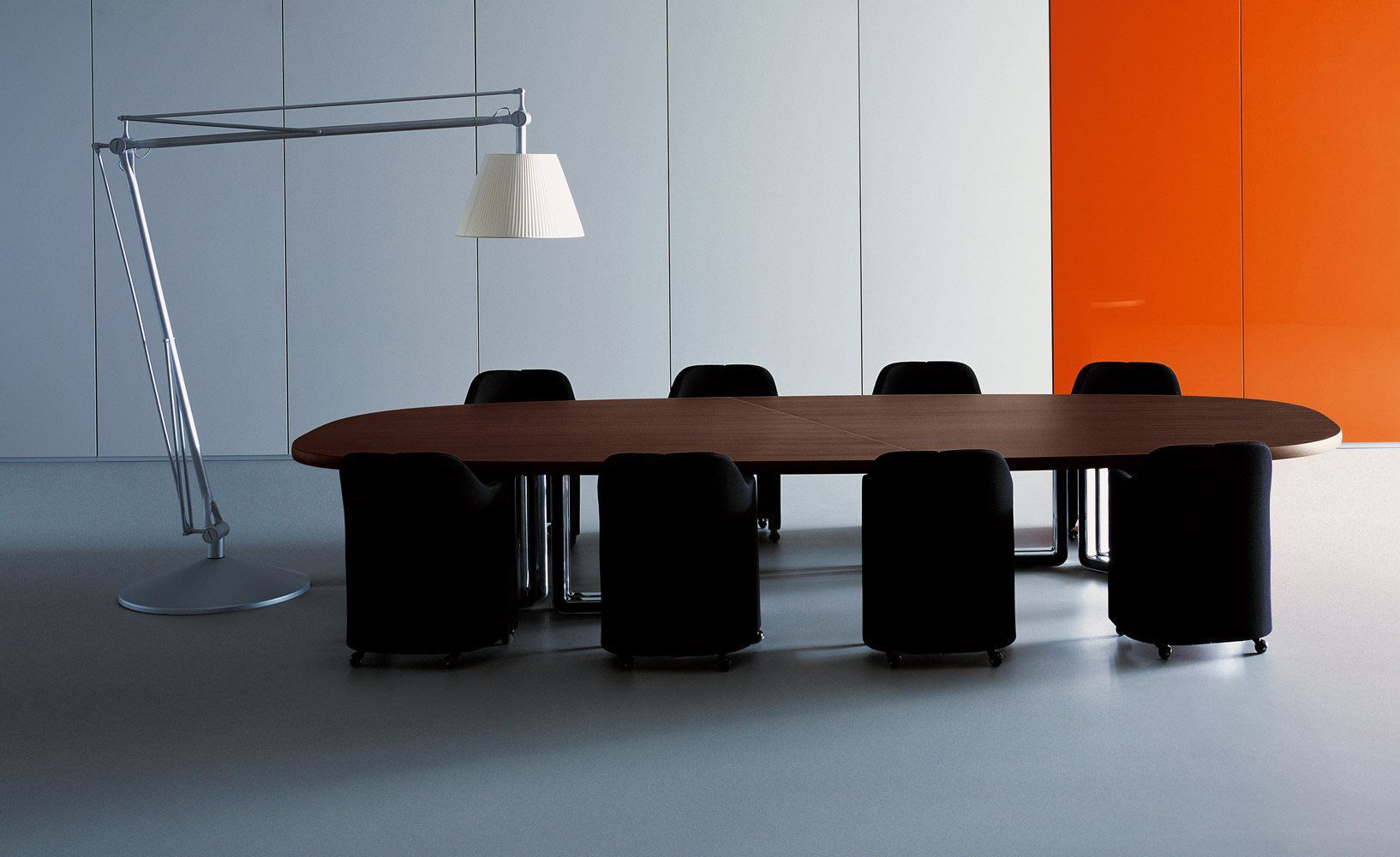 Oval conference table -  Contemporary Conference Table Wooden Oval Modular T334 T335 Tecno