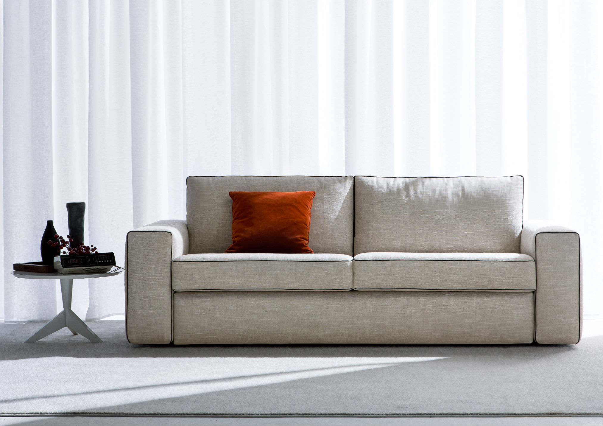 Sofa Bed / Contemporary / Leather / Fabric   PHILADELPHIA