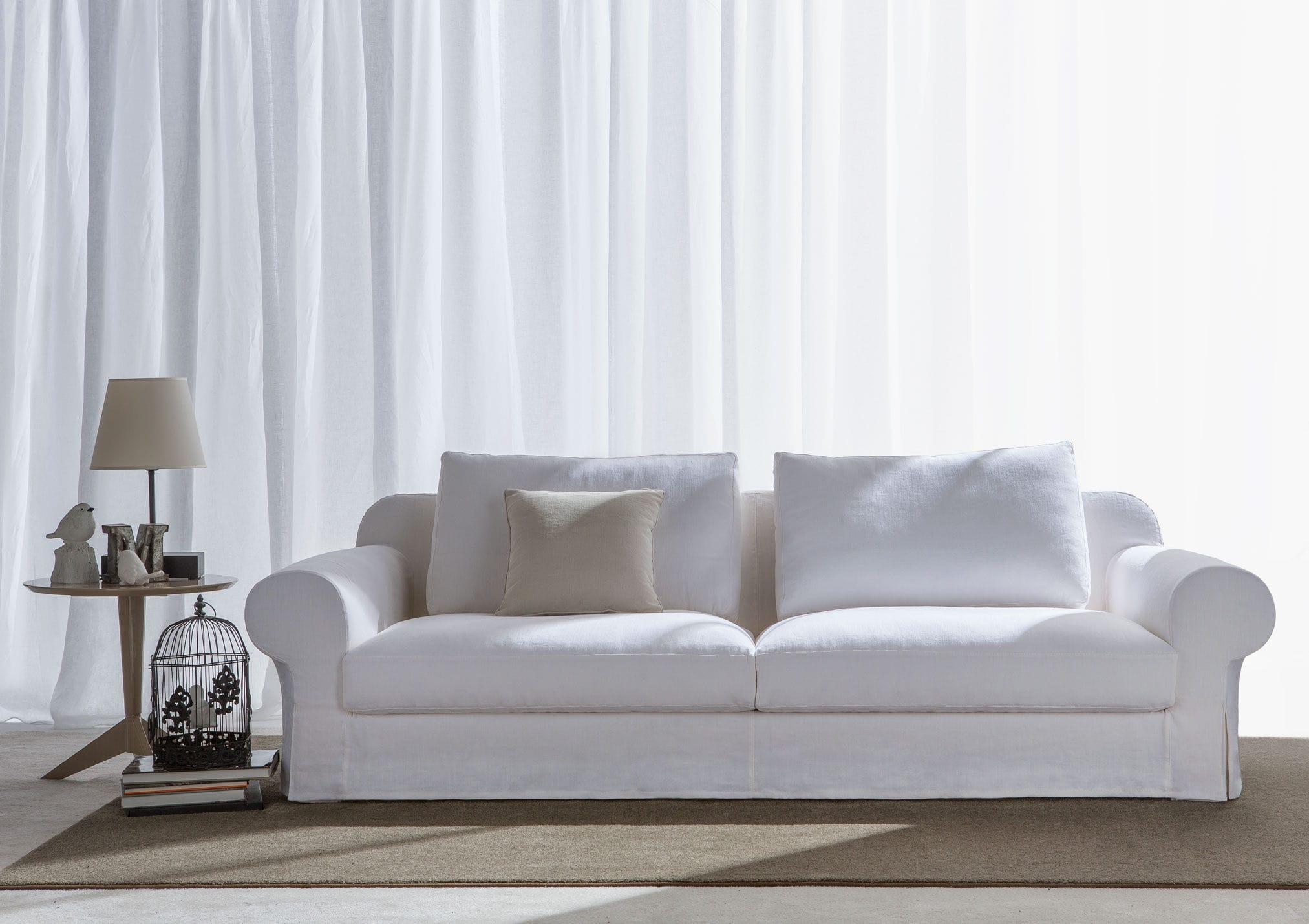 Traditional sofa / leather / fabric / 3-seater - CALLAS - BERTO SALOTTI