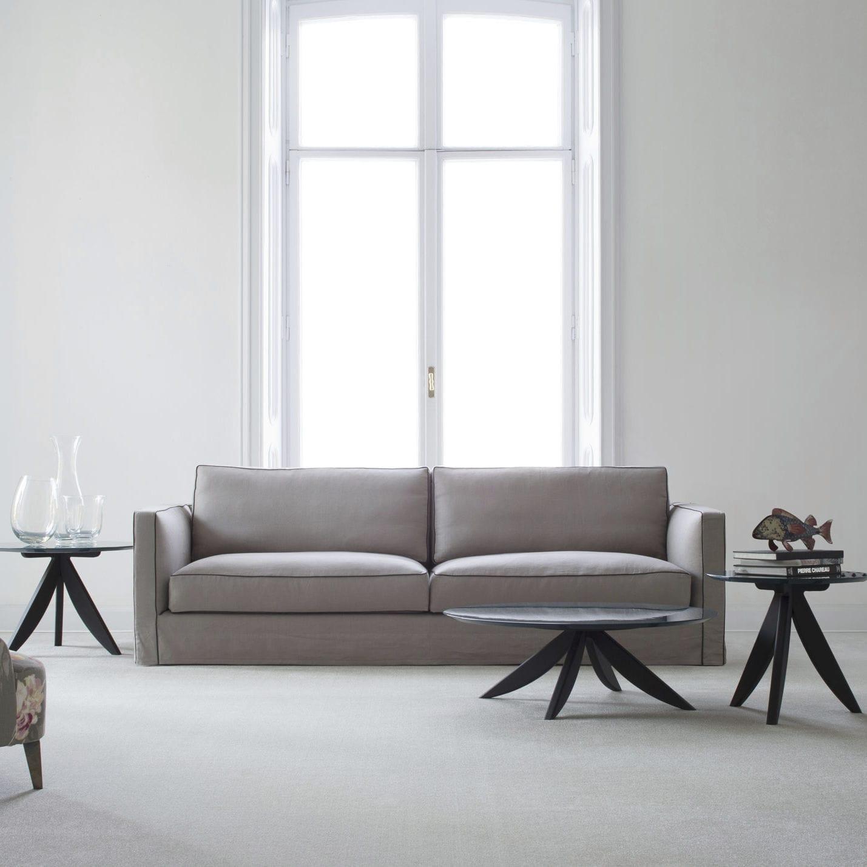 Contemporary sofa / velvet / linen / 4-seater - DANTON - BERTO SALOTTI