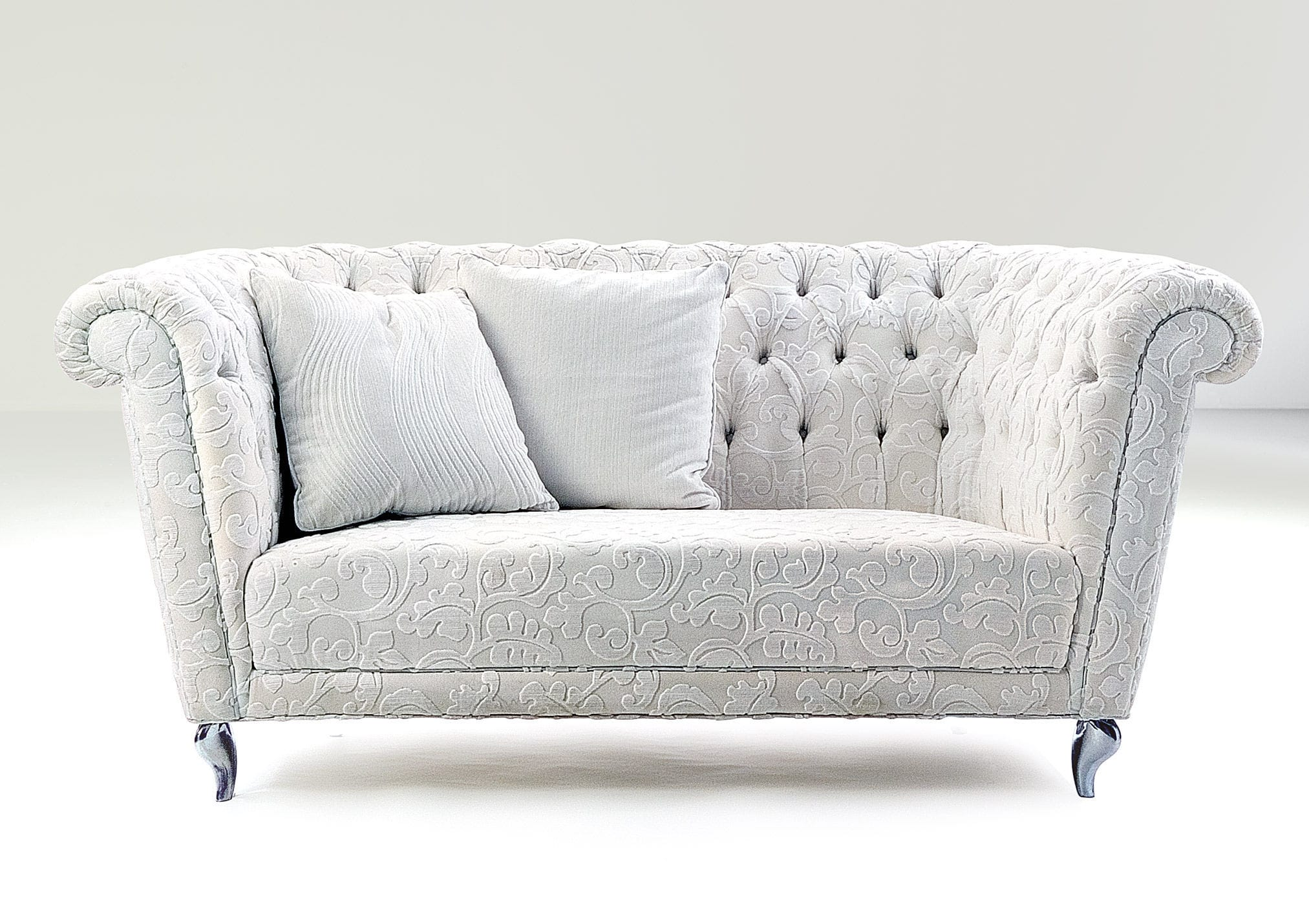Chesterfield Sofa / Leather / Fabric / 3 Seater   FUNNY