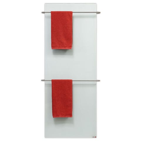 Electric Towel Radiator Steel Glass Contemporary Redwell