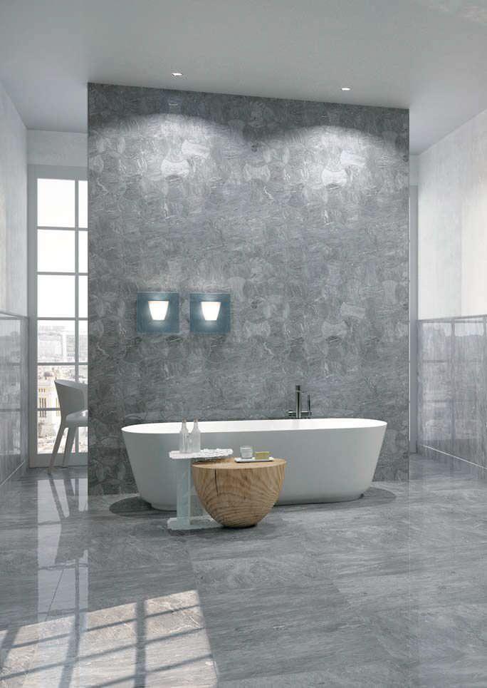 Indoor tile / bathroom / floor / porcelain stoneware - VEINS ...