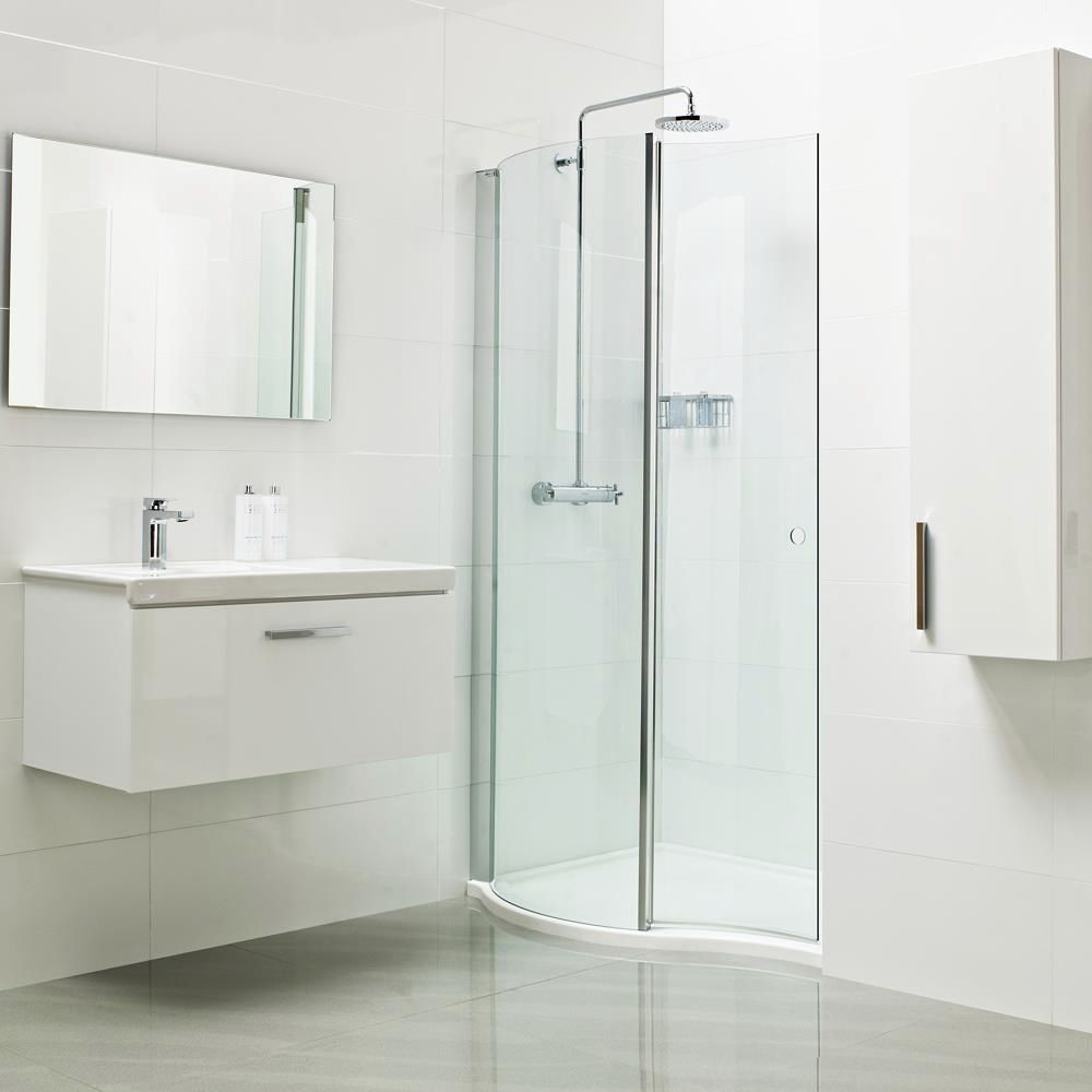 Folding shower screen / for alcoves / curved - LUMIN8: V8SPC13S - Roman