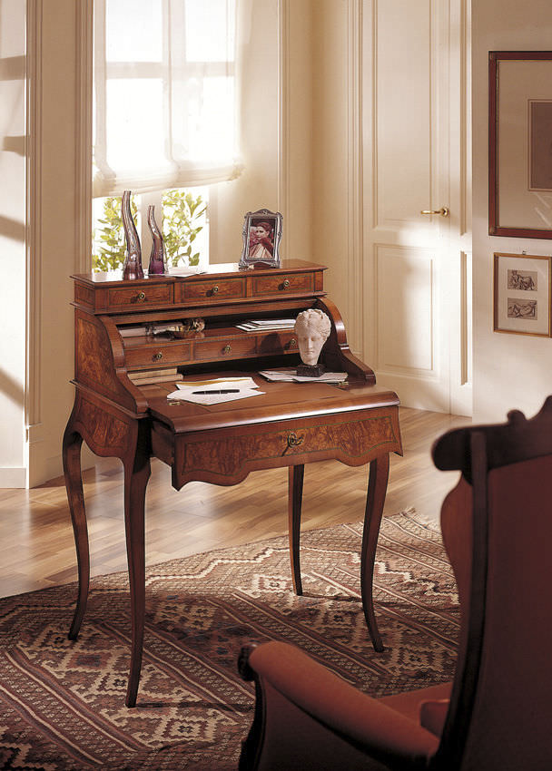 Classic Secretary Desk Wooden Ottocento