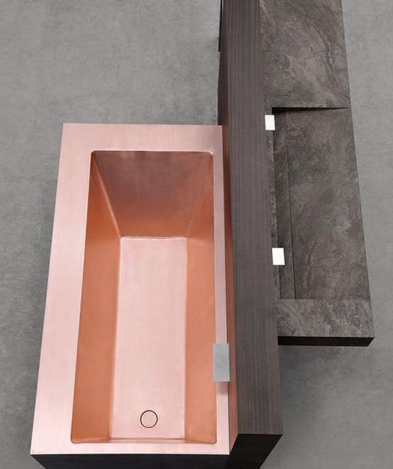 Contemporary bathroom / teak / stone - TRAMA by Mario Mazzer ...