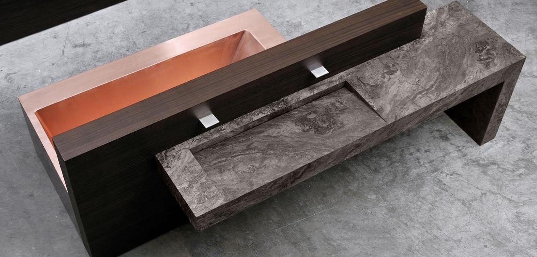 Free-standing bathtub / copper - SHINÈ by Mario Mazzer - minotti cucine