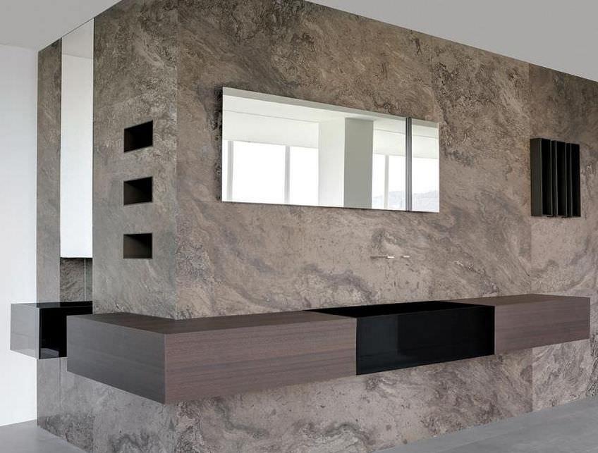 Contemporary bathroom / teak / stone - CUMA by Silvano Bonetti ...