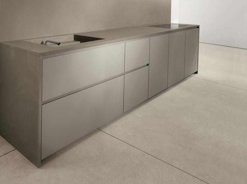 contemporary kitchen / stone / matte / lacquered - 045 - mk cucine - Cucine Mk