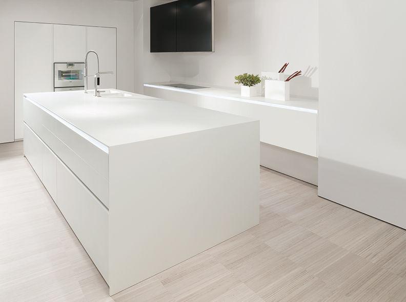 Contemporary kitchen / Corian® / island / lacquered - 012 - MK CUCINE